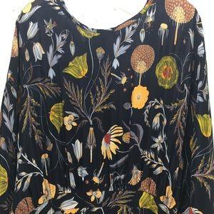 Anthropologie Dresses - Anthropologie Black Botanical Maxi Dress Sz 10